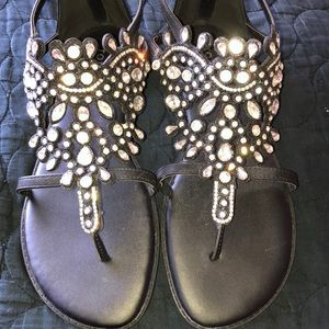 Torrid black rhinestone gladiator sandals size 9.5